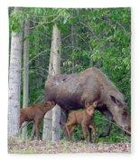 Nursing Moose Fleece Blanket