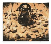 Nuts About Vintage Still Life Art Fleece Blanket