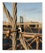 Nuts And Bolts Of The Brooklyn Bridge Fleece Blanket