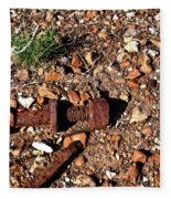 Nuts And Bolts Rusted Fleece Blanket