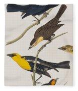 Nuttall's Starling Yellow-headed Troopial Bullock's Oriole Fleece Blanket