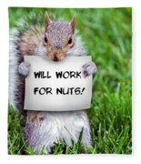 Nutty Squirrel Fleece Blanket
