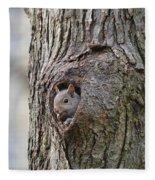 Nutty Squirrel Surprise  Fleece Blanket