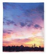 Ny Skyline Dawn Delight Fleece Blanket
