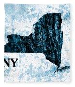 Ny State Map  Fleece Blanket