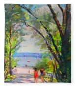 Nyack Park A Beautiful Day For A Walk Fleece Blanket
