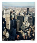 Nyc 3 Fleece Blanket