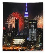 Nyc 4th Of July Fireworks Fleece Blanket