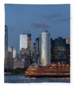 Nyc And Staten Island Ferry Fleece Blanket
