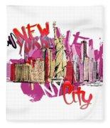 NYC Fleece Blanket