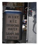 Nyc Drinking Water Fleece Blanket