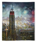 Nyc. Empire State Building Fleece Blanket