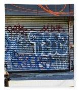 Nyc Graffiti Fleece Blanket