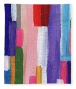 Nyhavn- Abstract Painting Fleece Blanket