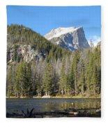 Nymph Lake In Rocky Mountain National Park Fleece Blanket