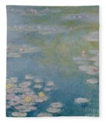 Nympheas At Giverny Fleece Blanket