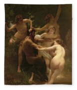 Nymphs And Satyr Fleece Blanket