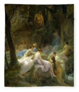 Nymphs Listening To The Songs Of Orpheus Fleece Blanket