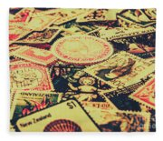 Nz Post Background Fleece Blanket