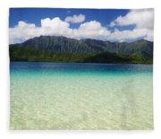 Oahu, Kaneohe Bay Fleece Blanket