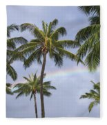 Oahu, Rainbow Fleece Blanket