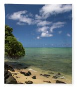 Oahu's East Coast 5 Fleece Blanket