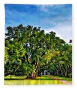 Oak Alley Plantation Fleece Blanket