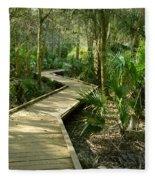 Oak Hammock Trail, Florida Fleece Blanket