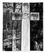 Oak Hill Cemetery Crosses #2 Fleece Blanket