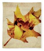 Oak Leaf Fleece Blanket