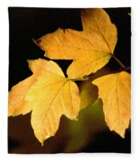 Oak Leaf Trio Fleece Blanket