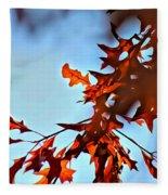 Oak Leaves 2 Fleece Blanket