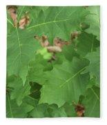 Oak Leaves Fleece Blanket