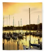 Oak Point Harbor Fleece Blanket