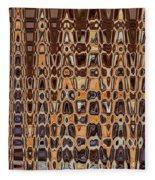 Oak Stump Abstract Fleece Blanket