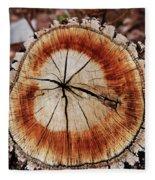 Oak Stump Fleece Blanket