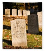 Oakland Cemetery Atlanta Fleece Blanket
