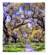 Oaks And Spanish Moss Fleece Blanket