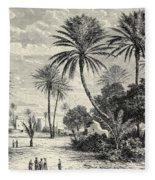 Oasis Of Gafsa  Tunis Fleece Blanket