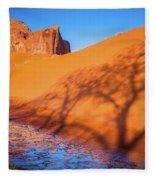 Oasis Tree Shadow Fleece Blanket