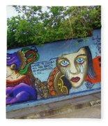Oaxaca Graffiti Fleece Blanket