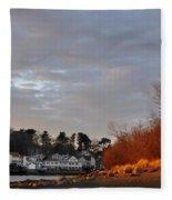 Obear Park At Sunset Fleece Blanket