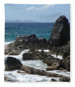 Obelisk In The Sea Fleece Blanket