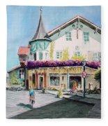 Oberammergau Street Fleece Blanket