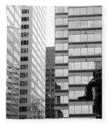Observing The City Fleece Blanket