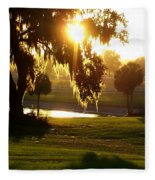 Ocala Sunset Fleece Blanket