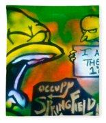 Occupy Springfield Fleece Blanket