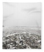 Ocean Beach In Tasmania Fleece Blanket