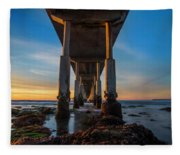 Ocean Beach Pier Fleece Blanket