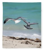 Ocean Birds Fleece Blanket